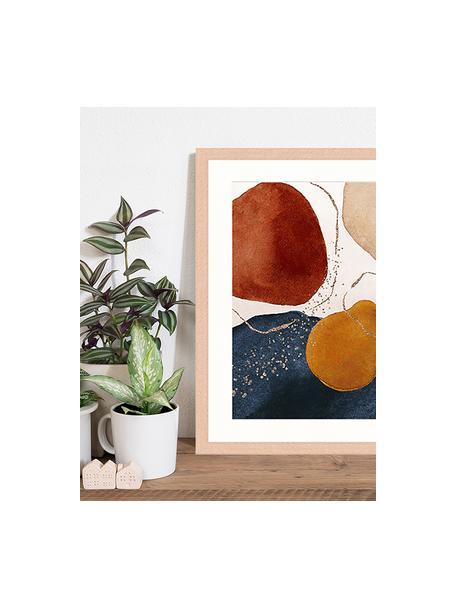 Stampa digitale incorniciata Terracota And Gold, Immagine: stampa digitale su carta,, Cornice: legno, verniciato, Multicolore, Larg. 43 x Alt. 53 cm