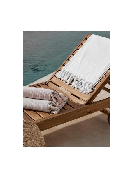 Ręcznik plażowy Freddy, Kremowobiały, S 100 x D 180 cm