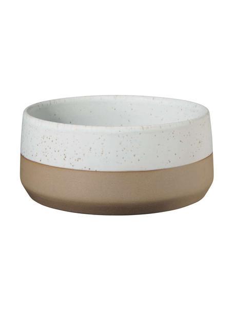 Kommen Caja in mat bruin/beige, 2 stuks, Keramiek, Bruin- en beigetinten, Ø 14 cm