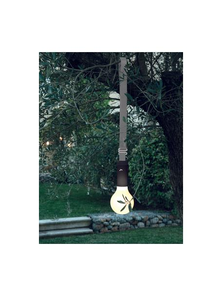 Colgador para lámpara de exterior Aplô, Correa: poliéster, Gris, antracita, L 102 cm