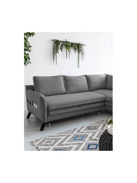 Sofá cama rinconero Charming Charlie, Tapizado: 100%poliéster tacto de l, Estructura: madera, aglomerado, Gris, An 230 x F 200 cm
