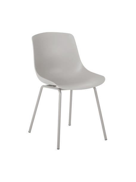 Sedia in plastica con gambe in metallo Dave 2 pz, Seduta: materiale sintetico, Gambe: metallo verniciato a polv, Taupe, Larg. 46 x Prof. 53 cm
