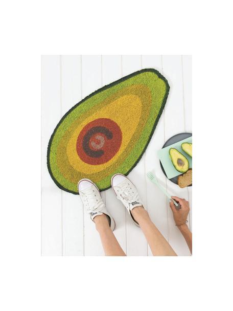 Deurmat Avocado, Kokosvezels, Groen, bruin, zwart, 40 x 70 cm
