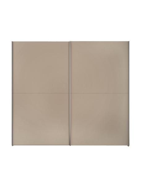 Kleiderschrank Oliver mit Schiebetüren in Beige, Korpus: Holzwerkstoffplatten, lac, Beige, 252 x 225 cm