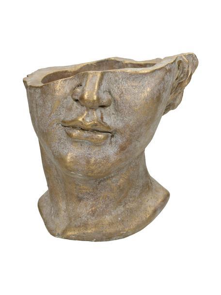 Macetero Face, Cemento, Dorado, An 20 x Al 19 cm