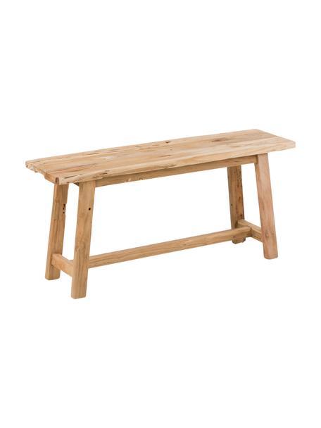 Ławka z recyklingowego drewna tekowego Lawas, Naturalne drewno tekowe, Drewno tekowe, S 100 x W 46 cm