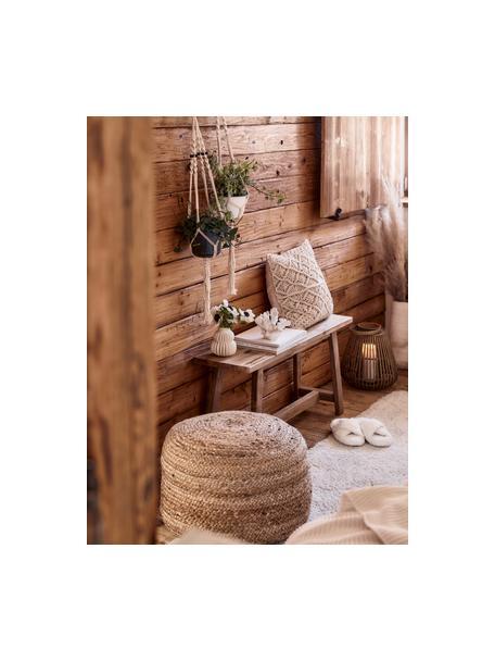 Panca in legno di teak Lawas, Legno di teak, finitura naturale, Legno di teak, Larg. 100 x Alt. 46 cm
