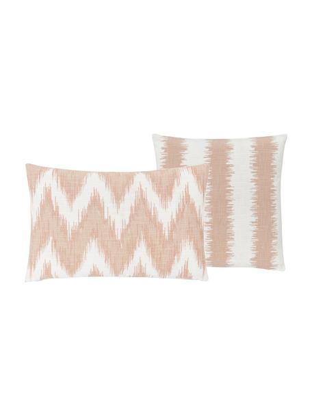 Fundas de cojines Hasan, 2uds., 100%algodón, Naranja, An 30 x L 50 cm