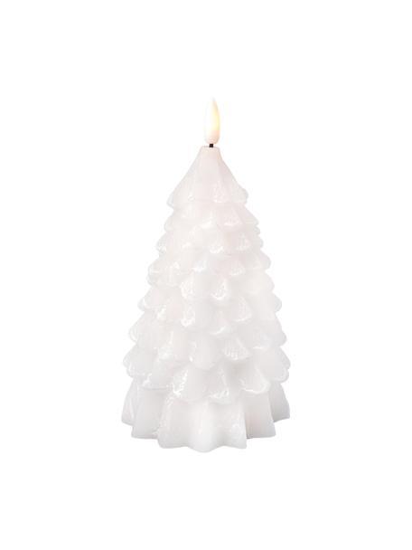 Świeca LED z wosku zasilana na baterie Linda, Wosk, Biały, Ø 10 x W 18 cm