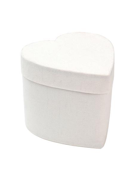 Caja para regalo Heart, Algodón, Blanco, An 10 x Al 9 cm