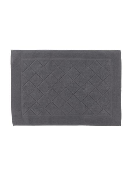 Dywanik łazienkowy Diamond, 100% bawełna, Antracytowy, S 50 x D 70 cm