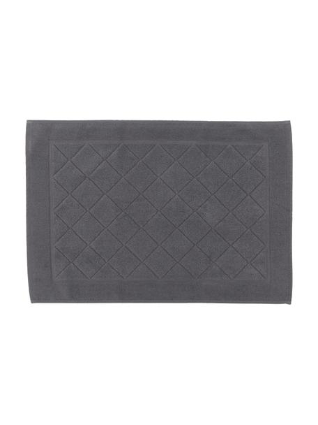 Tappeto bagno in cotone Diamond, 100% cotone, Antracite, Larg. 50 x Lung. 70 cm