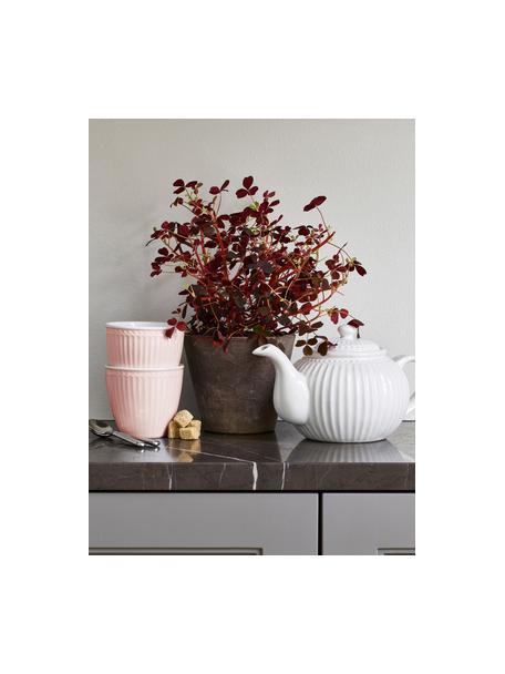 Ręcznie wykonany kubek Alice, 2 szt., Kamionka, Blady różowy, Ø 10 x W 9 cm