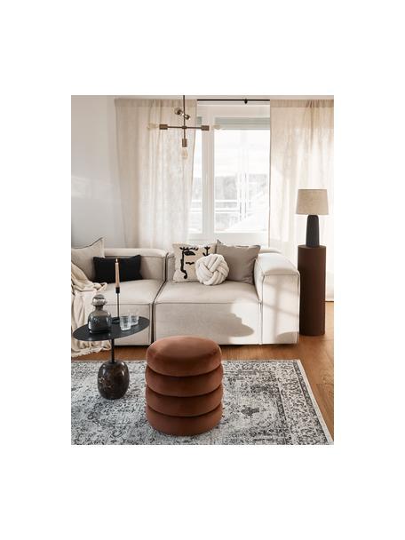 Sgabello in velluto marrone Alto, Rivestimento: velluto (poliestere) Il r, Struttura: legno di pino massiccio, , Velluto marrone, Ø 42 x Alt. 48 cm