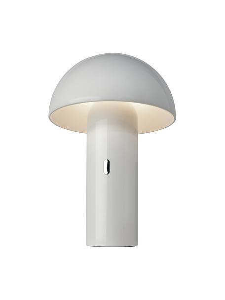 Lámpara de mesa pequeña regulable Svamp, portátil, Pantalla: plástico, Blanco, Ø 16 x Al 25 cm