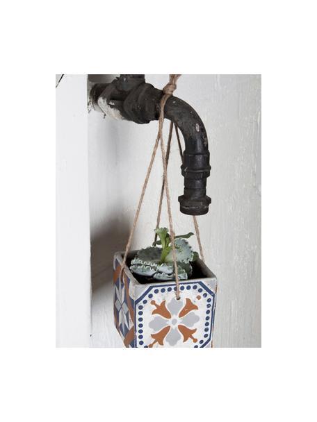 Maceta colgante pequeña Portugal, Cemento, Multicolor, An 13 x Al 13 cm