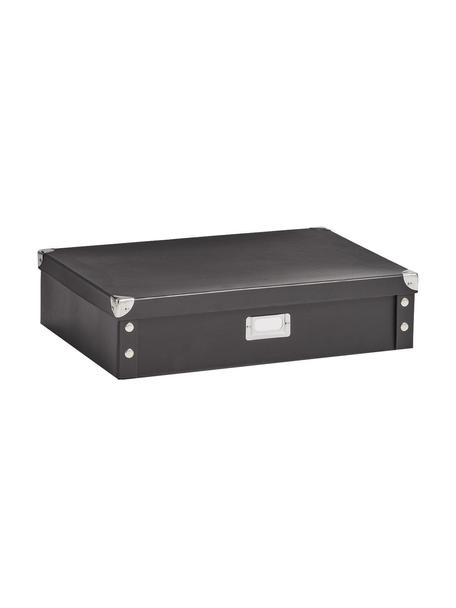 Pudełko do przechowywania Karo, Papier, tektura, metal, Czarny, S 45 x W 11 cm