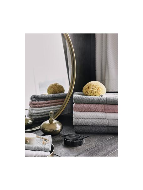 Asciugamano con motivo a nido d'ape Katharina, Bianco, Telo bagno