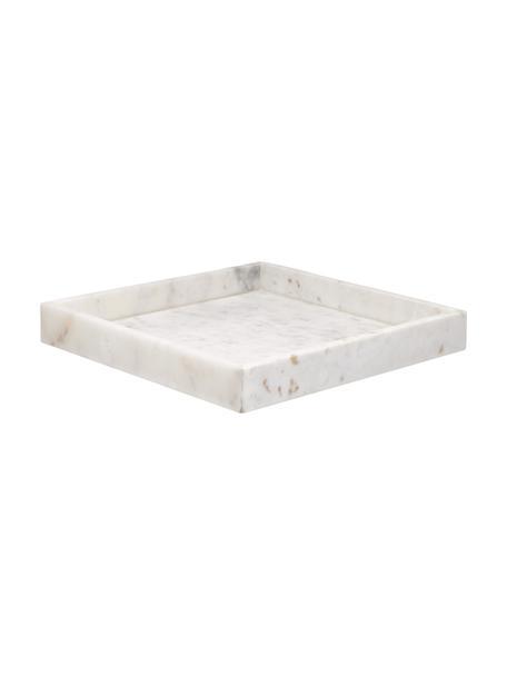 Taca dekoracyjna z marmuru Sienna, Marmur, Biały, S 30 x W 4 cm