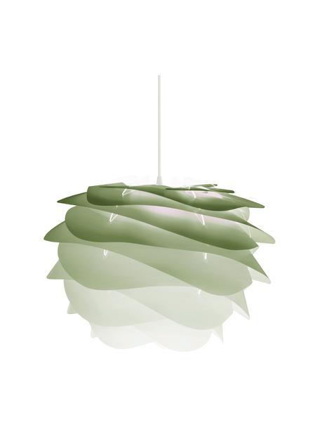 Hanglamp Carmina Mini, bouwpakket, Lampenkap: polycarbonaat, polypropyl, Baldakijn: polypropyleen, Groen, Ø 32 x H 22 cm