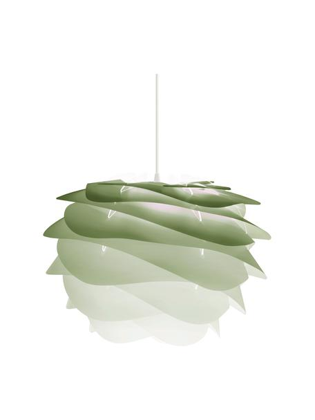 Pendelleuchte Carmina Mini, Bausatz, Lampenschirm: Polycarbonat, Polypropyle, Baldachin: Polypropylen, Grün, Ø 32 x H 22 cm