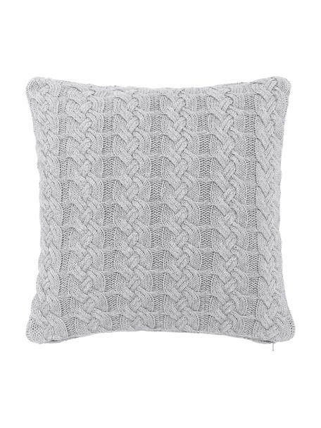 Poszewka na poduszkę z dzianiny Caleb, 100% bawełna, Szary, S 40 x D 40 cm