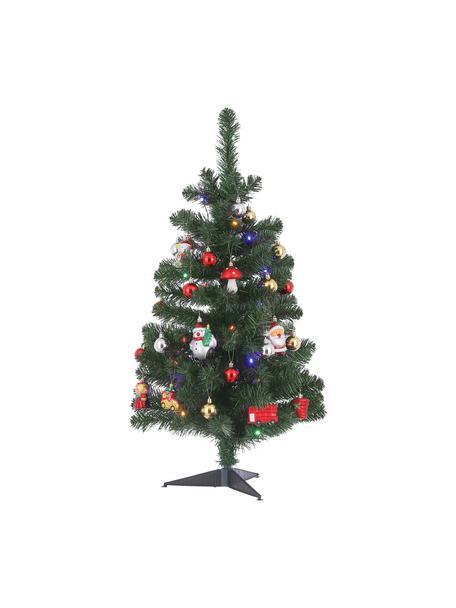 Decoratieve LED kerstboom Gently H 90 cm, Kunststof, Multicolour, Ø 50 cm