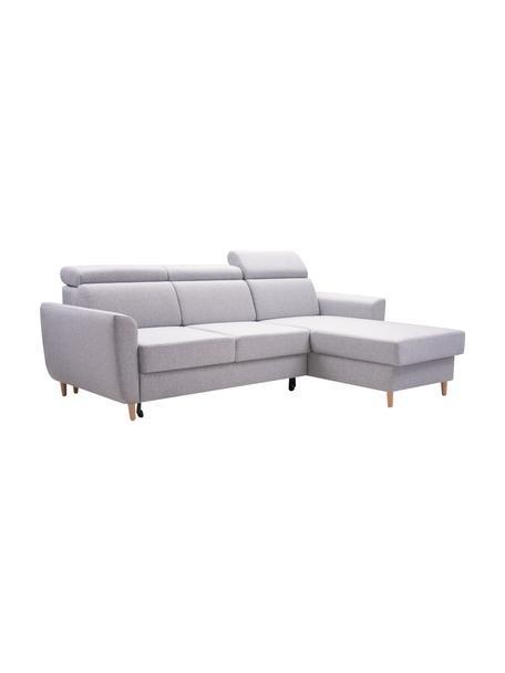 Sofa narożna z funkcją spania i schowkiem Gusto (4-osobowa), Tapicerka: 100% poliester, Jasny szary, S 235 x G 170 cm