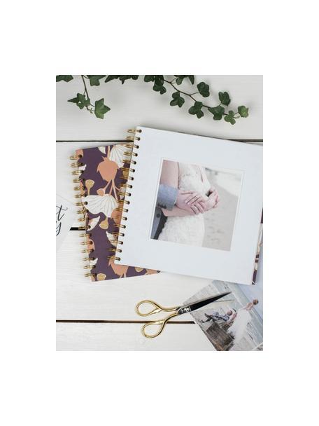 Fotoalbum Lotus, Lila, Rosa, Gelb, Weiß, 25 x 22 cm