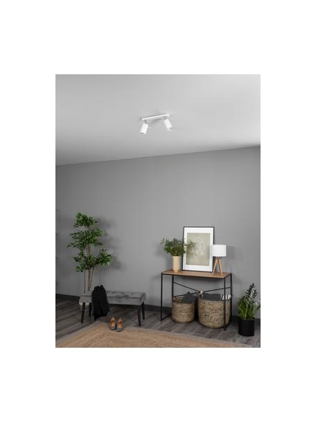 Plafondspot Etna in wit, Baldakijn: gelakt staal, Wit, 30 x 15 cm