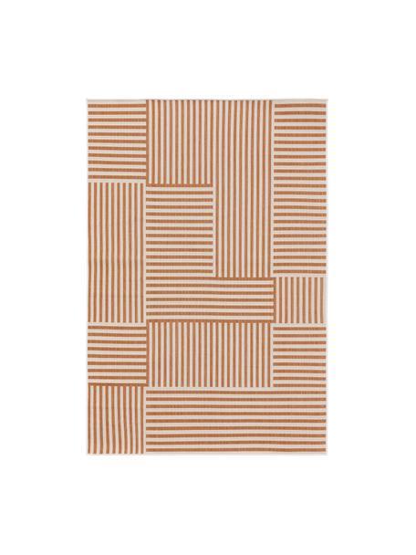Alfombra de interior/exterior Nillo, 100%polietileno, Naranja, crema, An 120 x L 170 cm (Tamaño S)