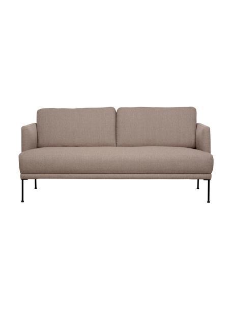 Sofa z metalowymi nogami Fluente (2-osobowa), Tapicerka: 100% poliester Dzięki tka, Stelaż: lite drewno sosnowe, Nogi: metal malowany proszkowo, Taupe, S 166 x G 85 cm