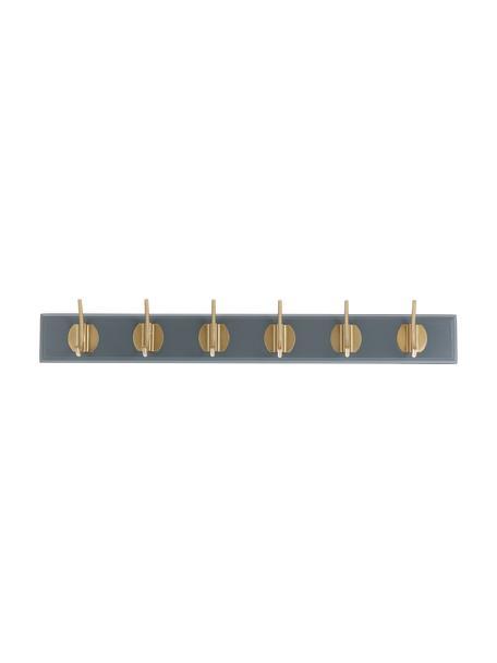 Kapstok Aoife met metalen haak, Lijst: gelakt MDF, Grijs, 60 x 7 cm