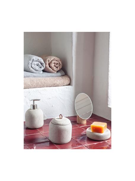 Specchio cosmetico con base in legno Veida, Superficie dello specchio: lastra di vetro, Marrone, Larg. 14 x Alt. 16 cm