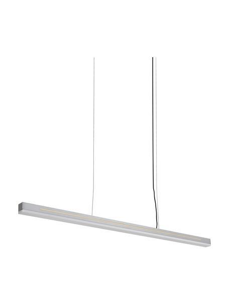 LED hanglamp Skylar, Lampenkap: gecoat aluminium, Diffuser: kunststof, Baldakijn: gecoat aluminium, Zilverkleurig, 115 x 4 cm