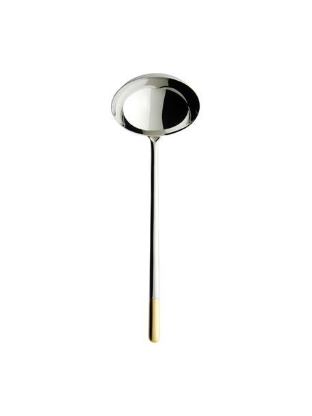 Cucharón de acero inoxidable Ella, Acero inoxidable, Plateado, dorado, L 28 cm