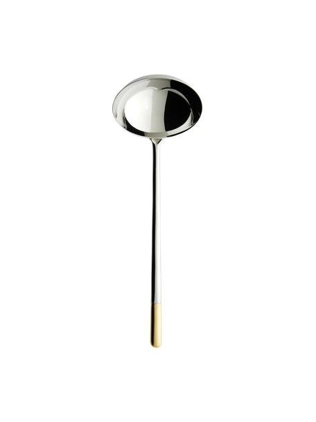 Mestolo in acciaio inossidabile Ella, Acciaio inossidabile, Argentato, dorato, Lung. 28 cm