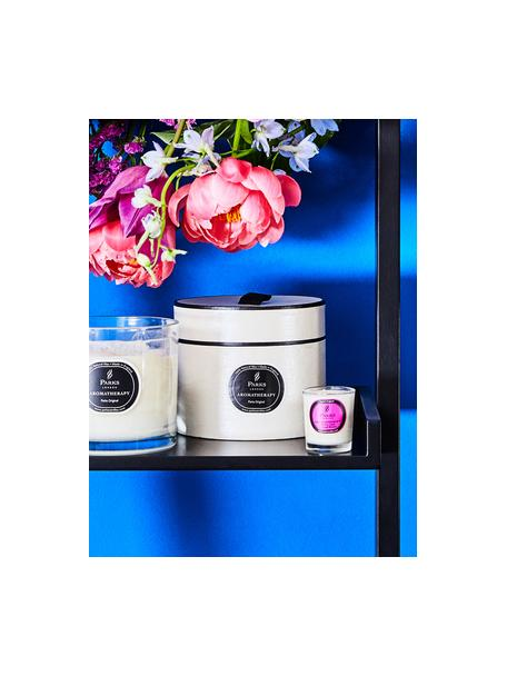 Candela profumata Aromatherapy (fico, cassis e arancio), Contenitore: vetro, Trasparente, bianco, rosa, Ø 8 x Alt. 9 cm