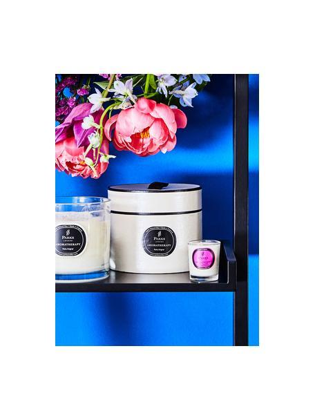 Geurkaars Aromatherapy (vijg, cassis & sinaasappel), Houder: glas, Transparant, wit, roze, Ø 8 x H 9 cm