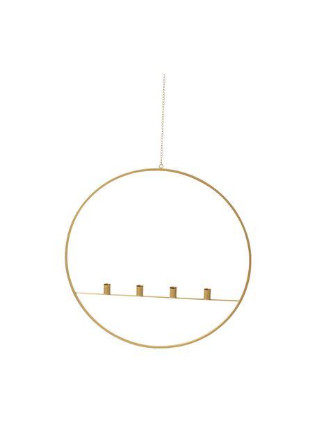 Hängender Kerzenhalter Circle, Metall, Goldfarben, Ø 60 cm