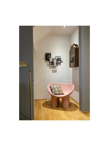 Design fauteuil Roly Poly in roze, Polyethyleen, vervaardigd volgens het rotatiegietprocédé, Roze, 84 x 57 cm