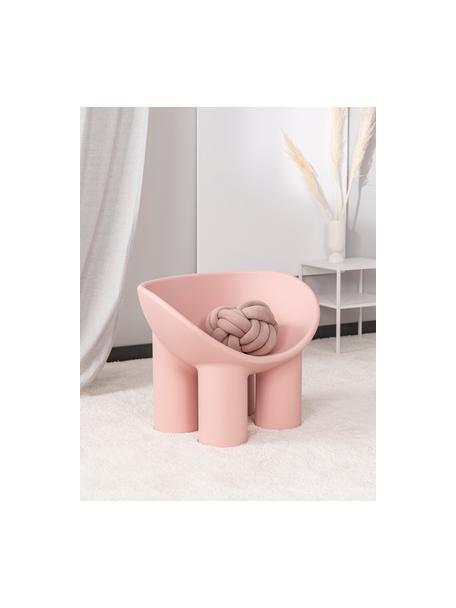 Poltrona di design rosa Roly Poly, Polietilene, prodotto in un processo di stampaggio rotazionale, Rosa, Larg. 84 x Prof. 57 cm