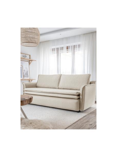 Sofá cama Charming Charlie, con espacio de almacenamiento, Tapizado: 100%poliéster tacto de l, Beige, An 225 x F 85 cm