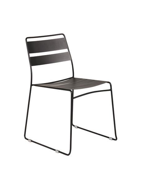 Krzesło ogrodowe z metalu Lina, Czarny, S 47 x G 55 cm
