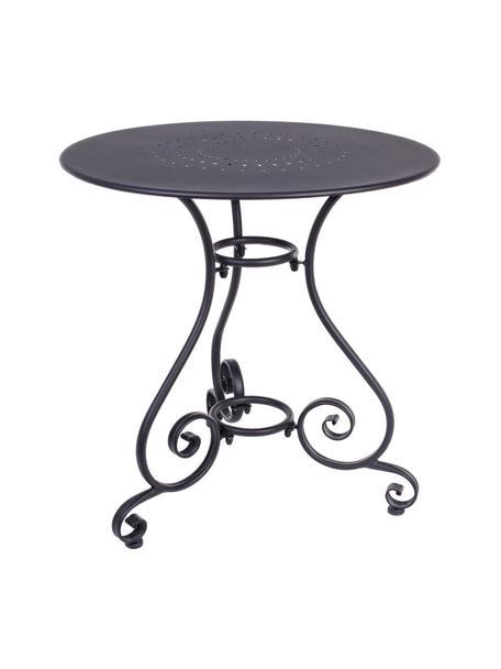 Tavolo da giardino in metallo Etienne, Grigio scuro, Ø 70 x Alt.72 cm