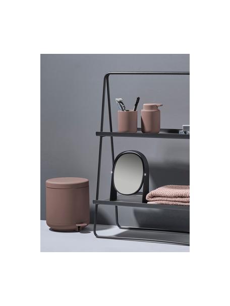 Afvalemmer Ume met pedaal functie, Kunststof (ABS), Oudroze, mat, Ø 20 x H 22 cm