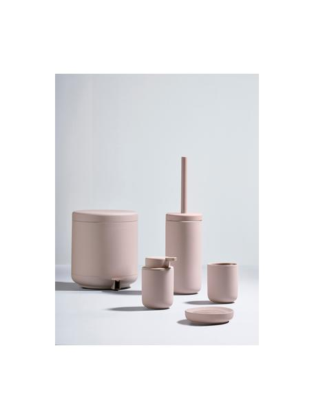 Abfalleimer Ume mit Pedal-Funktion, Kunststoff (ABS), Rosa, matt, Ø 20 x H 22 cm