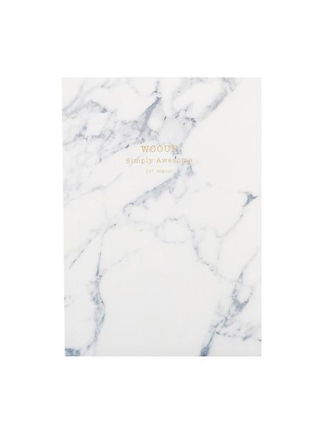 Taccuino White Marble, Carta, Bianco, Larg. 11 x Alt. 15 cm