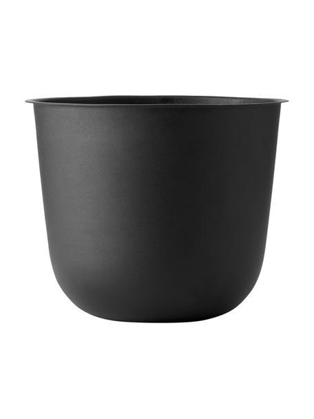 Duża osłonka na doniczkę ze stali Wire Pot, Stal malowana proszkowo, Czarny, Ø 23 x 17 cm