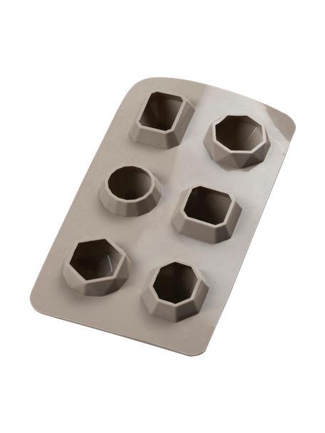 Ijsblokjesvorm Diamond uit silicone, Siliconen, Taupe, 19 x 3 cm
